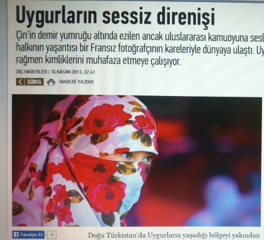 Yenishafak Gezitide Uyghurlar toghrisida makale